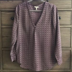 Joie Printed Silk Tunic Blouse